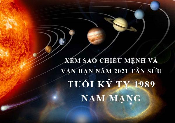 Xem sao chiếu mệnh và vận hạn năm 2021 cho tuổi Kỷ Tỵ 1989 nam mạng